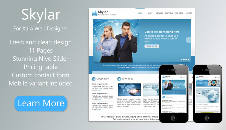 Free Xara Web Designer Templates And Other Goodies