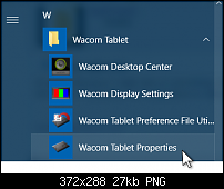 wacom right click